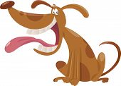 picture of spotted dog  - Cartoon Illustration of Happy Spotted Sitting Dog - JPG