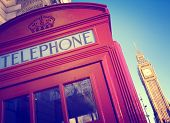 Telephone Booth Big Ben Travel Destinations Concept