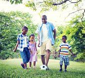 Family Bonding Recreation Sports Football Concept