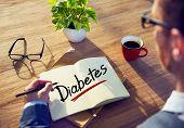 A Man Brainstorming about Diabetes