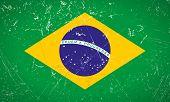 Brasil Grunge Flag