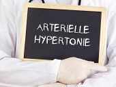 picture of hypertensive  - Doctor shows information - JPG
