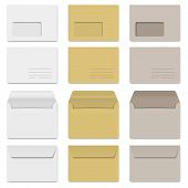 Collection Of Envelopes White, Brown And Gray