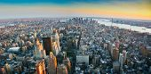 Panoramic View Over Lower Manhattan New York