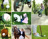 Outdoors sport collage