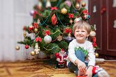 The Little Boy Portrait. Christmas Photo