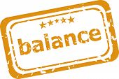 Balance Word On Rubber Grunge Stamp Isolated On White