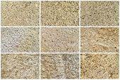 Twelve Natural Limestone Background Or Textures
