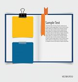 Collection of various papers, paper designs ready for your message. Vector illustration.