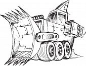 image of armored car  - Armored Bulldozer Vehicle Sketch Vector Illustration  - JPG
