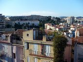 France. French Riviera. Cannes. Picturesque Roofs Of The Houses