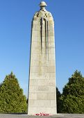 Detail Of Canadian Ww I War Memorial In Langemark, Belgium.
