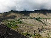 Dry Himalayan Agricultural Landscape In Monsoon