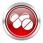 medicine icon, drugs sign