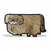 cartoon hairy dog