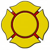 foto of maltese-cross  - A colorful firefighters maltese cross - JPG
