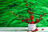 image of barberry  - Still life with a bouquet of barberry - JPG