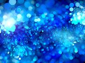 stock photo of glow  - Blue glowing bubbles fractal computer generated abstract background - JPG