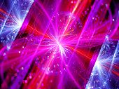 stock photo of higgs boson  - Colorful multidimensional energy field with particles computer generated abstract background - JPG