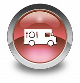 image of food truck  - Icon Button Pictogram with Food Truck symbol - JPG