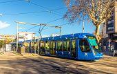 image of tram  - MONTPELLIER FRANCE  - JPG