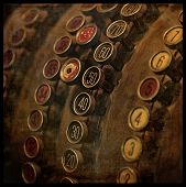picture of cash register  - Ancient cash register with texture - JPG