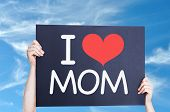 foto of i love you mom  - I Love Mom with sky background - JPG