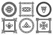 foto of celtic  - Black set of celtic knots frames - JPG
