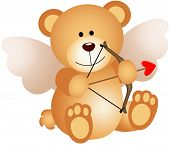 pic of cupid  - Scalable vectorial image representing a cupid teddy bear - JPG