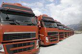 Постер, плакат: Corporate Fleet Trucks Lined