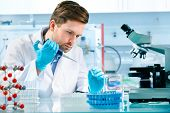 picture of scientist  - scientist working at the laboratory - JPG