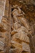 picture of hindu temple  - A portion of wall Sculpture from the Sun Temple at Konarak - JPG