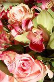 foto of vase flowers  - Alstroemeria - JPG