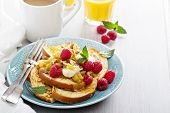 stock photo of french-toast  - French toasts with cinnamon - JPG