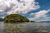 stock photo of deserted island  - Small island off Trinidad and Tobago Ocean - JPG