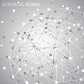 foto of molecules  - Geometric lattice - JPG