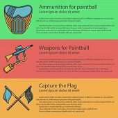 image of paintball  - Vector design elements with paintball mask - JPG