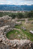 image of sparta  - Ancient Greek ruins at the archaeological place at Sparta Greece - JPG