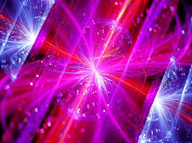 picture of higgs boson  - Colorful multidimensional energy field with particles computer generated abstract background - JPG