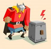 picture of thors hammer  - thor the super warrior - JPG