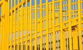 Bright Yellow Stair Railing