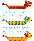pic of dragon  - Illustration of Dragon Boats with Varied and Colorful Patterns - JPG