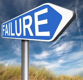 picture of fail job  - big failure ends in disaster fail exam test or other attempt failing examination is a disappointment  - JPG