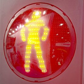 picture of traffic signal  - Red signal of a traffic light  - JPG