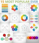Vector Circle Infographic Set. poster