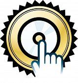 disc sign icon button