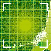 vector green fingerprint access granted