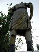 foto of muharram  - A roman style metal statue at the gate of historic chota imambada of lucknow - JPG