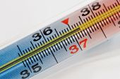 thermometer with high temperature macro