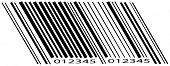 scanning barcode with numbers on white background